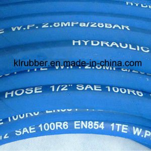 4sh Hydraulic Wire Braid Synthetic Steel Wire Rubber Hose pictures & photos