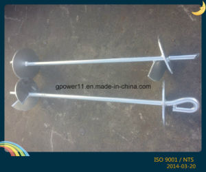 Pole Line Fitting Galvanized Earth Screw Anchor pictures & photos