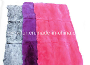 Factory Direct Supply Dyed 100% Genuine Rabbit Fur Plate for Garments