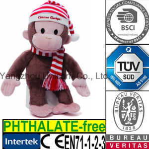 Soft Stuffed Animal with Knit Cap Scarf Plush Toy Monkey