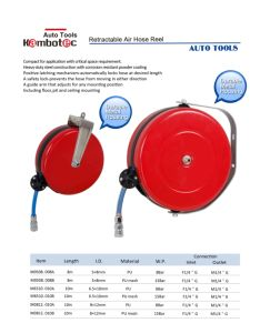 Air Hose Reel with 8*12mm 10m PU Hose