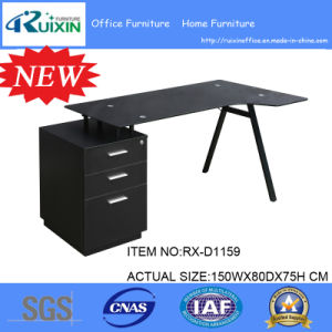 Glass Top Designer Kd Furniture Computer Desk & 3 Drawer Unit