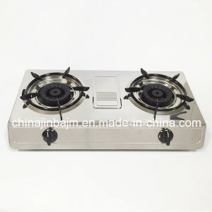 Double Burner #120*#120 Brass Burner Gas Stove pictures & photos