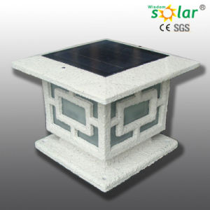 China portable white stone painting outdoor solar pillar wall portable white stone painting outdoor solar pillar wall lighting for garden landscape lighting aloadofball Image collections