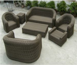 PE Rattan Table Set Plastic Rattan Furniture pictures & photos