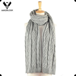 Unisex Winter Acrylic Cable Knitting Pattern Scarf