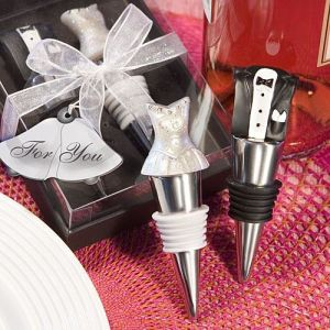 Bride and Groom Wine Bottle Stopper Set Centerpiece Giveaway Supplies Accessories Supplie Wedding Favors Party Gifts