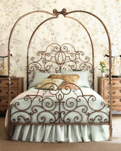 Antique Metal Bed Wrought Iron