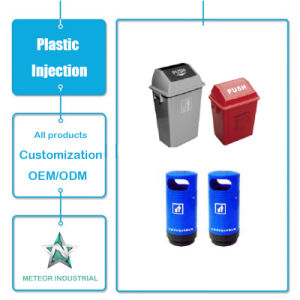 Customized Plastic Products Outdoor Industrial Garbage Can Plastic Waste Bin Injection Molding pictures & photos