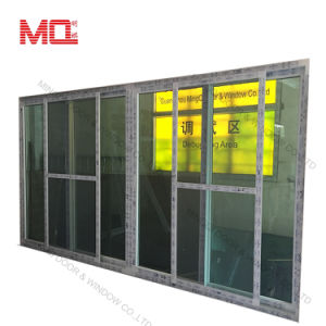 Conch Profile Four Panels PVC /UPVC Sliding Door with Screen