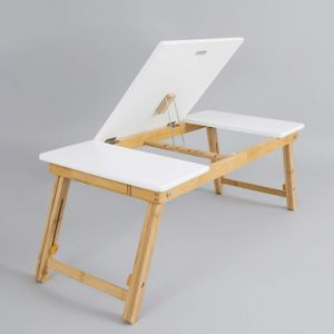 Bamboo Laptop Stand Folding Desk