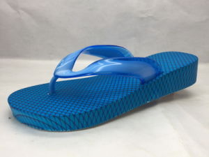 5679680921ad26 China Soft and Concise PVC Pcu Summer Blue Flip Flops (24ML1704 ...