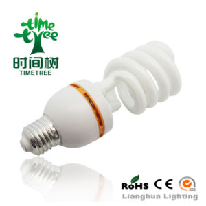 T3 9W 8000h Tri-Phosphor CE Super Bright Half Spiral Energy Saving Bulb CFL (CFLHST38kh) pictures & photos