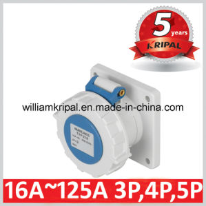 IP67 16A 2p+E 230V Cee Panel Mounted Receptacle pictures & photos