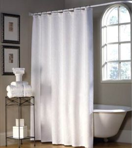 Stripe Waterproof Polyester Shower Curtain From China (DPF2464) pictures & photos