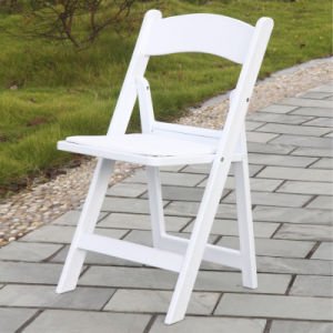 White Wedding Resin Folding Chair From Real Factory pictures & photos