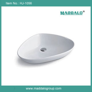 Luxury Hotel Bathroom Triangle Countertop Basin (HJ-1056)