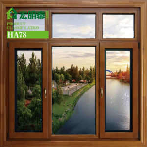 Aluminum Cladding Larch Wood Windows for Colde Areas