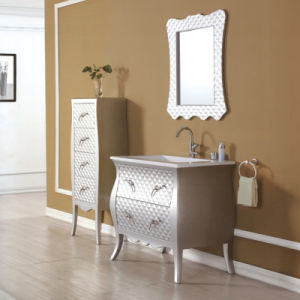 Classic Wood Bathroom Cabinet with Silver Colour pictures & photos