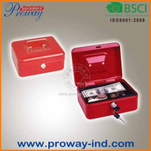 8 Inch Security Steel Cash Saving Box with 2 Keys pictures & photos
