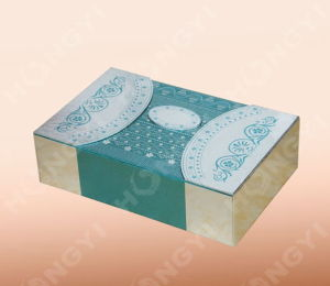 Green/Silver Cardboard Gift Box with Perfume Packaging (HYG019)