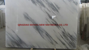 White Marble Slab Cut to Tiles Stair Steps Flooring Tiles