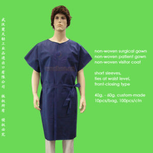Disposable PP+PE Patient Gown pictures & photos
