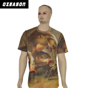 Hip Hop Colour Printing Sublimation Polyester OEM Servise T Shirt pictures & photos