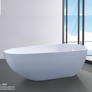 Modern Style Acrylic Sanitary Ware Freestanding Bathtub (633) pictures & photos