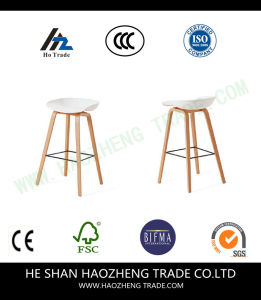 Hzpc003 Plastic Sitting Board Wood Elevated Metal Chair Fixed