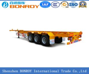 20FT 3 Axle Skeletal Container Semi-Trailer pictures & photos