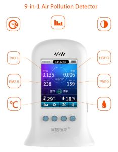 Air Quality Monitor Temperature Humidity Meter Particle Counter