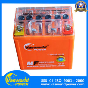 12V 3ah Lead Acid Dry Charged Motorcycle Battery pictures & photos