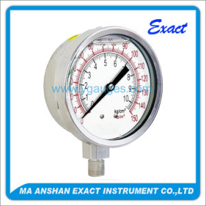 Heavy Duty Pressure Gauge, All Stainless Steel (Liquid Filled Gauge)