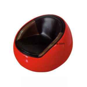 Modern Design Fiber Glass Red Egg Chair