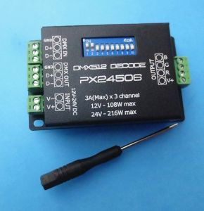 CV DMX512 Controller Decoder 3A*3channel pictures & photos