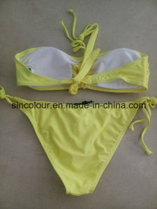 80%Nylon 20%Spandex 190 GSM Ladiessexy Bikini Set pictures & photos