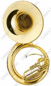 Bb Key Gold Lacquer Sousaphone (TUS-700L) pictures & photos