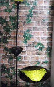 Solar Munaro Hand Blown Glass Bird Iron Stake/Solar Lights Garden/Solar  Lights Garden