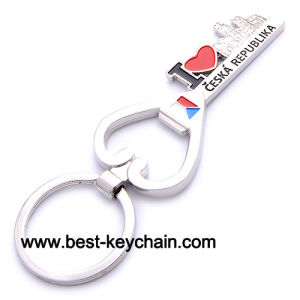 Zinc Alloy Souvenir Metal Key Shape Ceska Republika Keychain (BK52275) pictures & photos