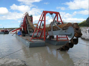 High Throughput Sand Chain Bucket Dredger