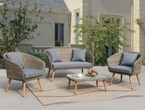 Commercial Furniture Teak Base Outdoor Patio Sofa