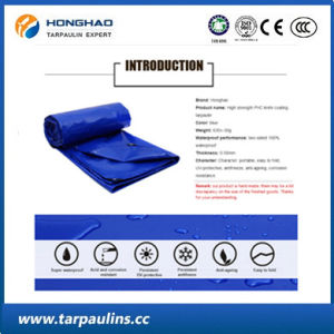 Heavy Duty Waterproof PVC Coated Tarpaulin Fabric Greige Roll pictures & photos