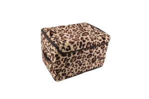 2015 Best Style Popular Leopard Printed Storage Box Bag pictures & photos