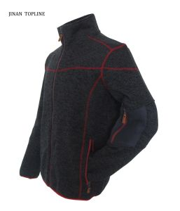 Men Knitted Polar Fleece Leisure Jacket for Sports Wear pictures & photos
