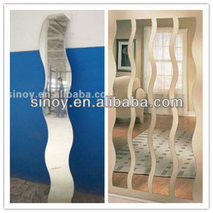 3mm to 6mm Wave S Shaped Decorative Beveled Mirror for Home Decor pictures & photos
