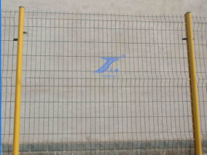 Wire Mesh Factory Fence with Peach Post (TS-L01) pictures & photos
