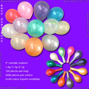 Inflatable Colour Printing Round Metallic Balloon for Christmas Holidays pictures & photos