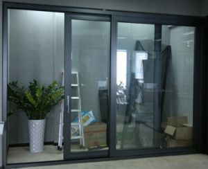 Aluminum Frame Glazed Panel Sliding Door Aluminium Gl