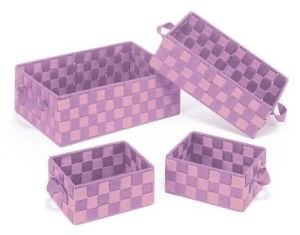 PP Woven Strap S/4 Storage Baskets